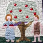 Adam & Eve Quilt block by Rosemary Youngs