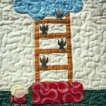 Jacob's Ladder Bible story quilt block