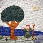 Moses beside the Nile River quilt block