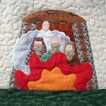 Fiery Furnace Bible quilt block